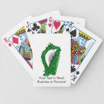 música adornada negra verde design.png de la arpa baraja cartas de poker