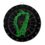 música adornada negra verde design.png de la arpa tablero dardos