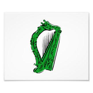 música adornada negra verde design png de la arpa impresiones fotográficas