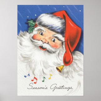 Música alegre de Papá Noel w del navidad del Póster