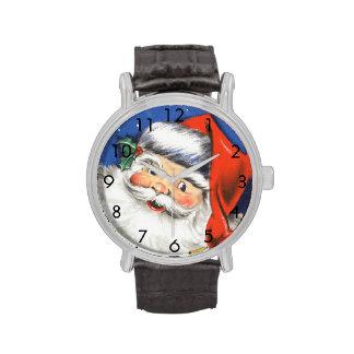 Música alegre de Papá Noel w del navidad del Reloj De Mano