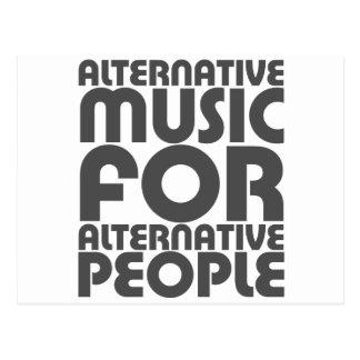 Música alternativa 4 personas alternativas - roca  tarjeta postal