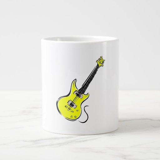 música amarilla graphic.png de la guitarra eléctri taza jumbo
