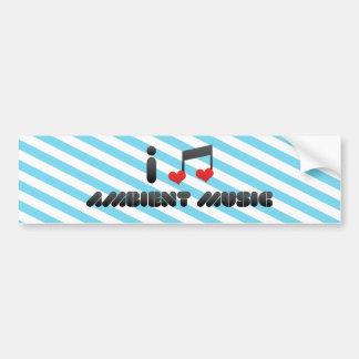Música ambiente etiqueta de parachoque