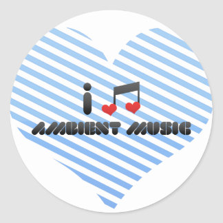 Música ambiente pegatina redonda