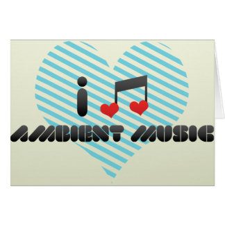 Música ambiente tarjeta