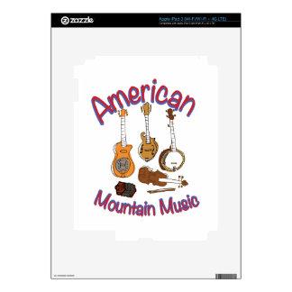 Música americana de la montaña pegatina skin para iPad 3