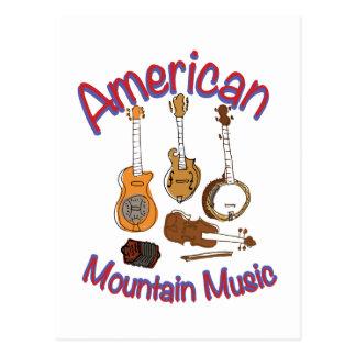 Música americana de la montaña postales