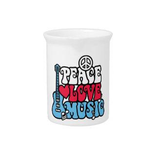 Música americana del amor de la paz jarrón