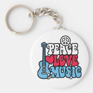 Música americana del amor de la paz llavero