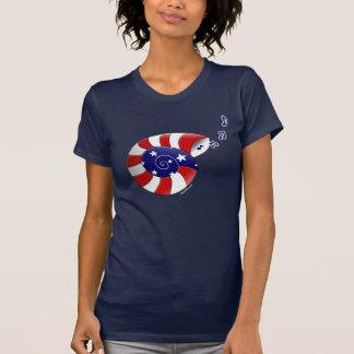 Música americana Shell |Blue Camiseta