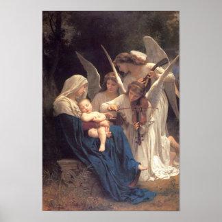 Música angelical SANTA de la MADRE Y del NIÑO Impresiones