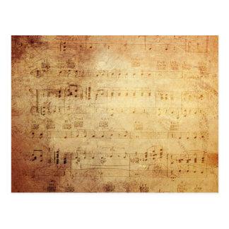 Música antigua postal
