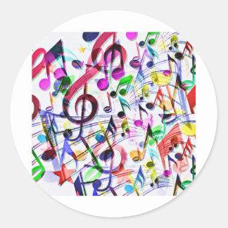 Música Apprecition_ Pegatina Redonda