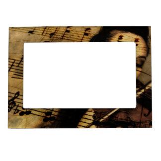 Música artsy del violín marcos magnéticos de fotos
