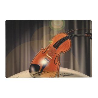 Música artsy del violín tapete individual