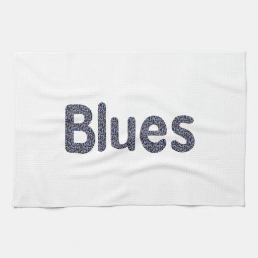 Música azul copy.png del modelo de la roca de la p toalla de mano