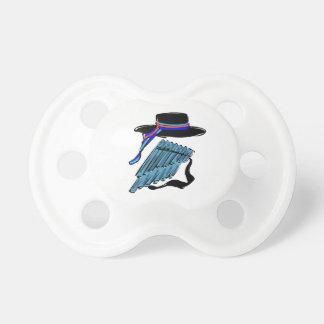 música azul design.png de la cinta de la flauta de chupetes de bebe