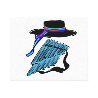 música azul design png de la cinta de la flauta de lienzo envuelto para galerias