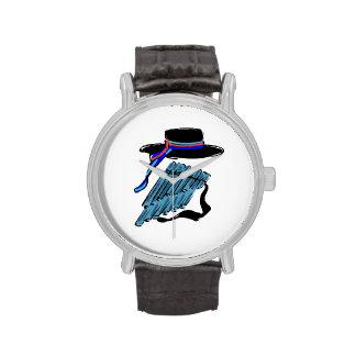 música azul design.png de la cinta de la flauta de reloj de mano