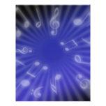 Música azul flyer personalizado