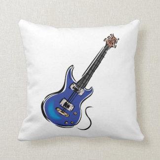 música azul graphic.png de la guitarra eléctrica cojin