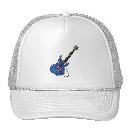 música azul graphic.png de la guitarra eléctrica gorras de camionero