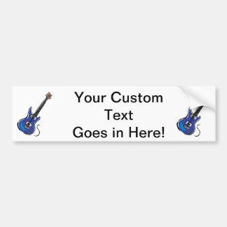 música azul graphic.png de la guitarra eléctrica pegatina para auto