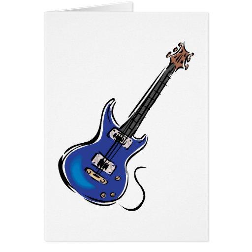 música azul graphic.png de la guitarra eléctrica tarjeta pequeña