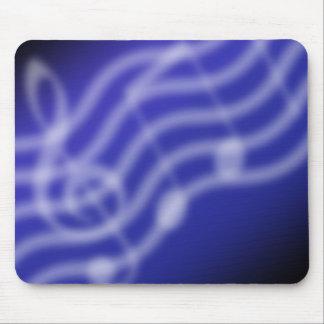 Música azul tapete de raton