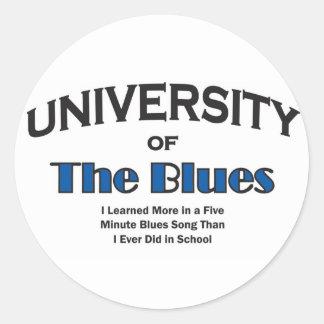 música-azules pegatina redonda