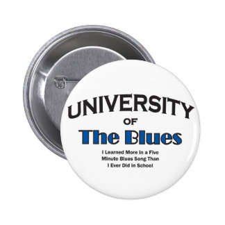 música-azules pin redondo de 2 pulgadas