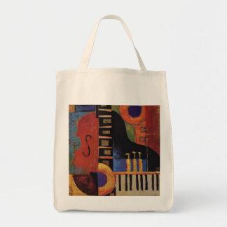 música bolsa tela para la compra