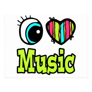 Música brillante del amor del corazón I del ojo