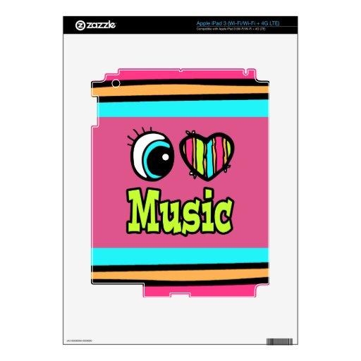 Música brillante del amor del corazón I del ojo Pegatinas Skins Para iPad 3