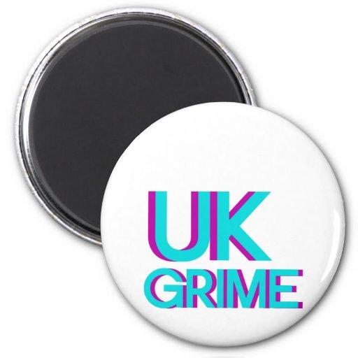música británica de la suciedad imán redondo 5 cm