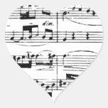 Música Calcomania De Corazon Personalizadas