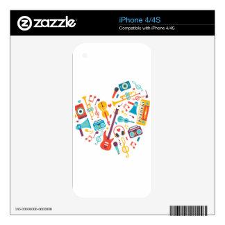 Música Calcomanía Para iPhone 4