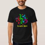 Música: CAMISETA colorida enrrollada del HOMBRE de Playera