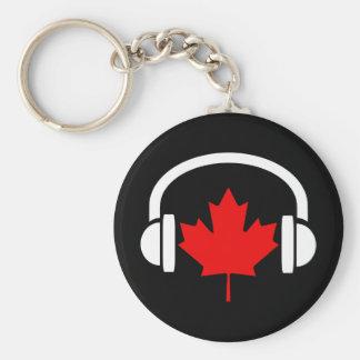 Música canadiense llavero redondo tipo pin