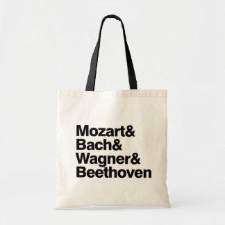 Música clásica - bolso divertido de la banda de lo bolsa tela barata