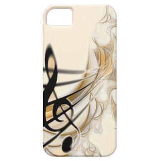 Música - clef agudo iPhone 5 carcasas