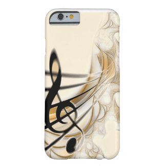 Música - clef agudo funda para iPhone 6 barely there