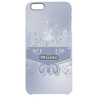 Música, clef con notas tónicas y efectos del funda clearly™ deflector para iPhone 6 plus de unc