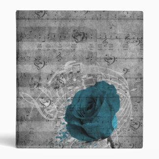 Música color de rosa azul antigua hermosa de la sa
