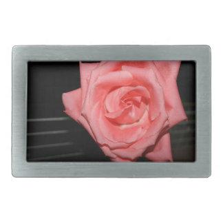 música color de rosa rosada de la parte posterior hebilla cinturón rectangular