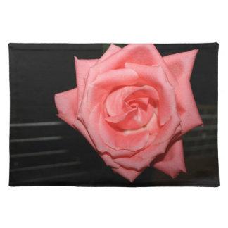 música color de rosa rosada de la parte posterior manteles