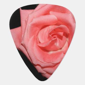 música color de rosa rosada de la parte posterior plectro