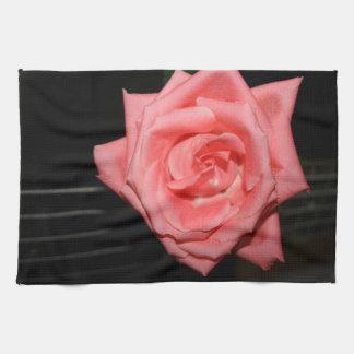 música color de rosa rosada de la parte posterior toallas