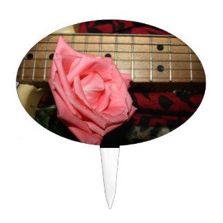 música color de rosa rosada del cuello del palillos de tarta
